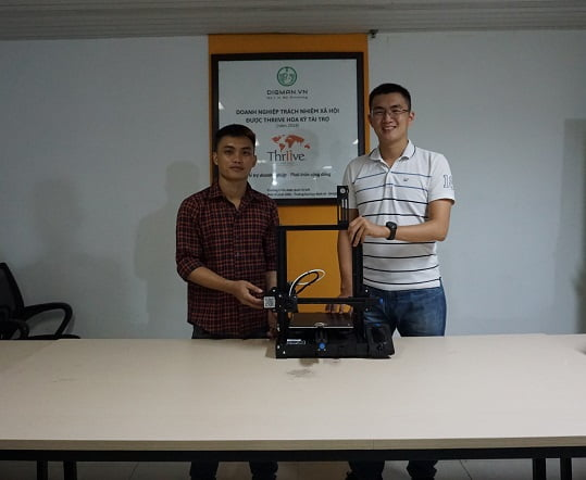 trao tặng máy in 3D miễn phí cho sinh viên đại học kiến trúc