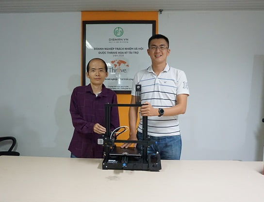 hoạt động trao tặng máy in 3D của DIGMAN