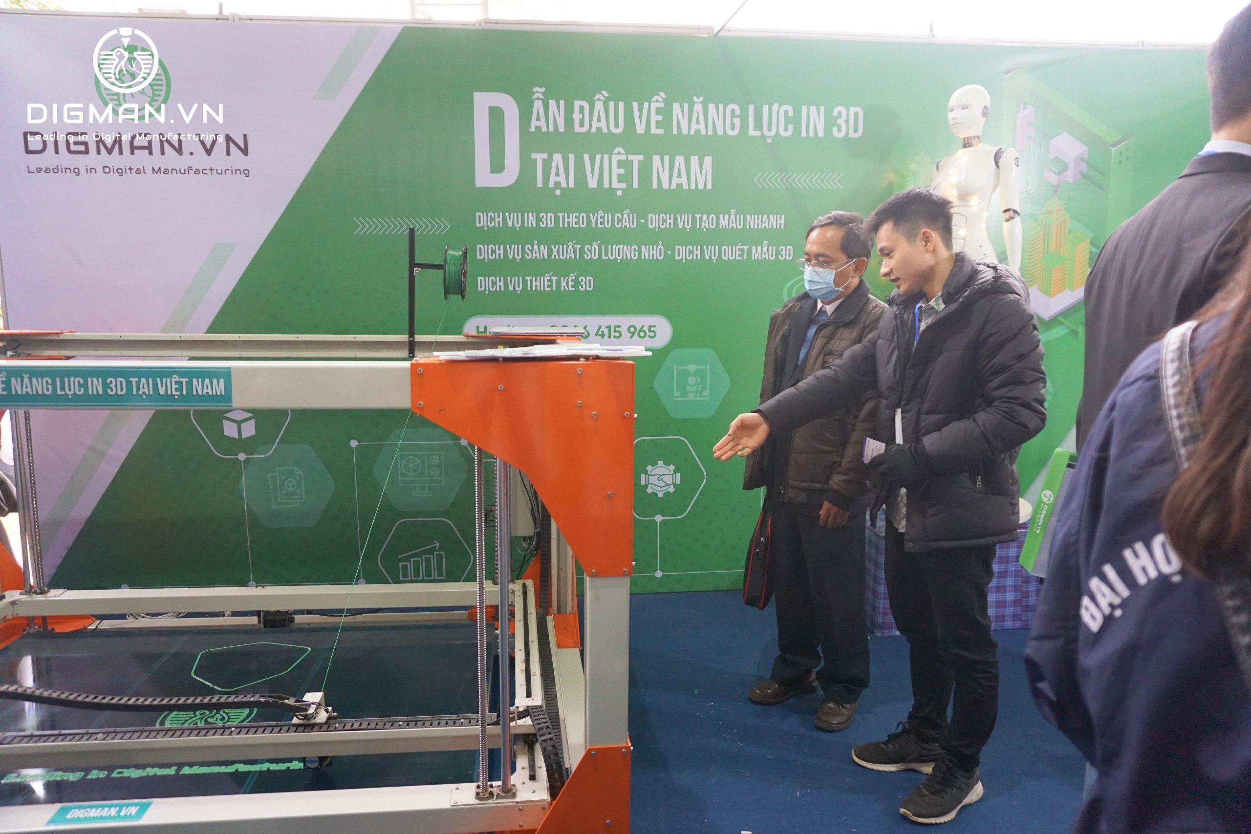 DIGMAN giới thiệu máy in 3D công nghiệp khổ lớn tại sự kiện